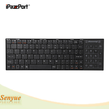 iPazzPort KP-810-25BTT QWERTY Bluetooth Keyboard with Built-in Multi-touch Touchpad Ultra-sensitive Mouse for Win iOS Android