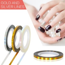 ELESSICAL 6pcs 1mm/2mm/3mm Mixed DIY Nail Polish Tools Nail Stripping Tape Line Nail Art Glue Stickers Women Jewelry WY816-WY818(China)