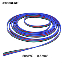 10M/pcs 4 pin RGB extension cable wire cord for 5050/3528 LED Strip tape Flat ribbon electric wire