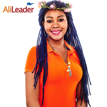 Alileader Hair Products Dreadlock Style, Natural Black Dark Blue Yellow Red Crochet Hair For Men And Women Synthetic Hair Braid