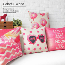 Wholesale birthday gift Tanabata Cushions Home Decor LOVE letters Decorative Cushion Valentine's Day pink Sofa Cushion