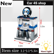 Mini Street View Building Block Auto shop  Maintenance shop With Legoes City Toys SD6528 Christmas gift Free shipping