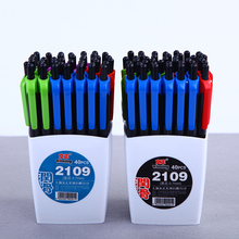 40 Pieces/Lot Retractable Ballpoint Pen With Pen Holder 0.7mm Fine Point Ball Pen Smooth Writing Black and Blue Ink
