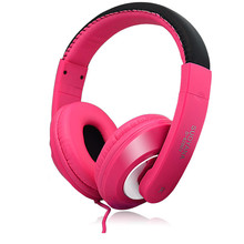 Hot Selling Pink Stereo Headphone auriculares Headband Gaming Headset with Microphone 2.0m Cable for PC Gamer #ET1(China)