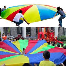 Parachute 3M Rainbow Kids Umbrella Outdoor Toys For Children Developmen Cooperation Early Education Sports Games VS 2M 3.6M 5M