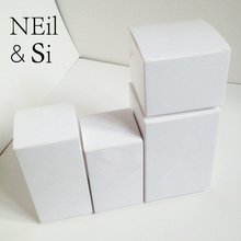 White Paper Box for Christmas Party Favor Wedding Candy Gift Craft Candle Package Paperboard Boxes Free Shipping(China)