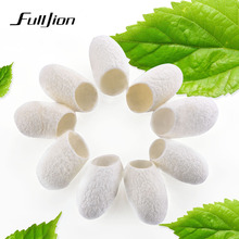 Fulljion 10pcs/set Natural Face Care Brush For Face Silkworm Cocoon Brush Clean Acne Face Silk Cocoons For Face Cleaning Makeup(China)