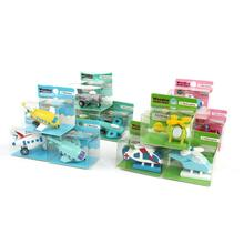 12pcs/lot baby wooden mini airplane models toys kit boys girls educ Kids wooden airplane toys with all color and pattern(China)