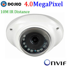 Ambarella HD 4 Mp 20fps mini small housing Vandalproof Dome Network Security IP Camera onvif with 3.0 megapixel Fixed Lens