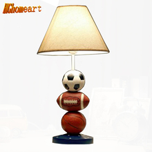 Hghomeart Children Lamp Dimming Bedroom Table Lamp Lovely Basket Soccer Bedside Desk Lamp Creative Personalized Birthday Gift