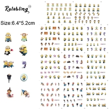2017 New Arrival Make People Happy Cartoon Character Series Nail Sticker Easter Stickers Water Transfer Printing Paper
