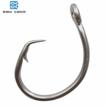 Easy Catch 30pcs 39960 Stainless Steel White Offset Tuna Circle Bait Fishing Hook Size 8/0 9/0 10/0 11/0 12/0 13/0 14/0 15/0(China)