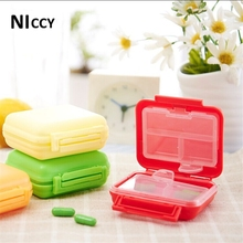 1pc 6 Grids Medical Kit Portable Pills Medicine Box Creative Travel Storage Box Outside Favor Home Organizer 2017 New Fashion(China)