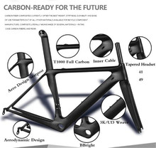 T1000 New bicycle frameset Carbon road Bike Frame UD Matt  Carbon road frame sizes:48/51/54/56/58 Free Shipping