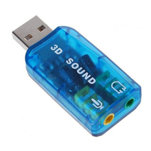 6pcs/lot New USB 2.0 Interface 5.1 Stereo Audio Sound Card Adaptor for PC Drop Shipping(China)