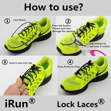 2017 Running Lock Laces~No Tie Elastic Laces Locks~eBay/Amazon locking laces Supplier~Lazy Elastic Shoelaces~DHL FREE SHIPPING