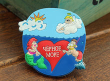 Yephoe mope (Black Sea), Mermaid, Tourist Travel Souvenir Rubber Fridge Magnet(China)