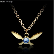 Legend of Zelda Necklace Zelda Triforce Pendant Navi Necklace Jewelry Butterfly Charm Papillon Necklace Dropshipping