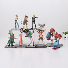 9styles One Piece 2 Years Later Luffy Zoro Usopp Brook Franky Nami Nico Chopper Sanji PVC Action Figure toy model(China)