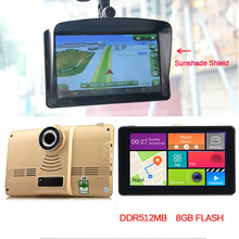 Sunshade Sunshine 7 inch Vehicle Android Car DVR Camera Recorder with GPS Navigation HD 720P WiFi Bluetooth core 8G Flash 512MB