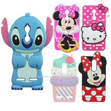 Silicone 3D Cartoon Minnie Mouse Sulley Stitch Hello Kitty Ice Cream Cupcakes Phone Case Cover For Lenovo K6 Power / K6 5.0 inch