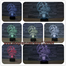 HOT SALE New England Patriot Helmet 3D USB LED Lamp American Football Team Logo Souvenir 7 Color Changing Night Light Soccer