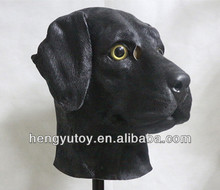 Dog  Mask Funny Performance Simulation Latex Labrador Dog Head Masks