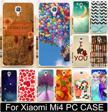 Case Shell For Xiaomi 4 Mi4 M4 Love You Beer Moon Cute Little Girl Princess Hard PC Mobile Phone Case Cases Back Cover Capa