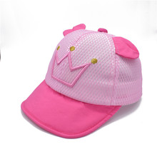 Summer Cotton Comfortable Infant Hats Cute Casual Soft Eaves Baseball Cap Mesh Baby Boy Beret Baby Girls Sun Hat