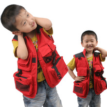 Children 's Clothing Photographer Fishing Vest Fishing Multi - Pocket Canvas Photographer Advertising Volunteer Fishing Clothing