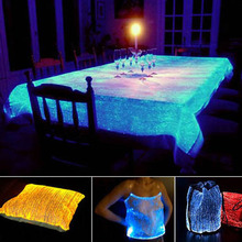 fiber optic RBG FABRIC LED Night Christmas Day Party fabric material luxury fun e-textiles(China)