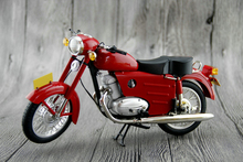 Boutique 1/8 The original factory Retro Xingfu250 Alloy motorcycle model Red green Collection model Holiday gift