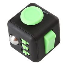 11colors Squeeze Fun Fidget Cube Toy Dice Anxiety Attention Anti stress Puzzle Magic Relief Adults Funny Fidget Toys(China)