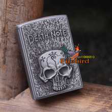 FIREDOG Novelty Death Note Vintage Skull Lighters cigarette Windproof Lighter(China)