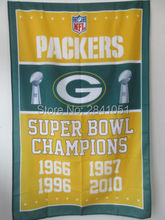Green Bay Packers Super Bowl Champions American Outdoor Indoor Basketball College Flag 3X5 Custom USA Any Team Flag