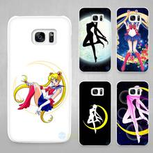Sailor Moon Hard White Coque Shell Case Cover Phone Cases for Samsung Galaxy S4 S5 S6 S7 Edge Plus(China)