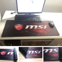 Printing Msi Logo Design Rubber Over Locked Edge Mousepad Computer Notebook Professional Gaming Optical Mice Mats for Gamer