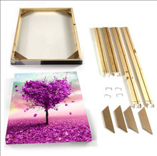 DIY Customized Stretch Wooden Frame For Canvas Oil Painting Home Decor For Living Room Without Painting In High Quality(China)