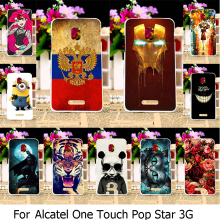 Hard Plastic Painted Phone Case For Alcatel OneTouch Pop Star 3G 5022 OT5022 5022X 5022D OT-5022 One Touch Pop Star 5.0 inch