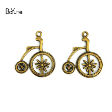 BoYuTe (60 Pieces /lot) 27*32MM Antique Bronze Silver Plated Zinc Alloy Bicycle Pendant Charms Diy Jewelry Findings Accessories(China)