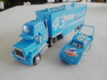 TT03-- Pixar Car Metal Diecast King Hauler Truck 22cm & NO.43 King 2pcs Toy Cars Set New Loose
