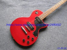 LP Electric guitar Junior model solid red,rosewood Fretboard with black pickguard,chrome parts,Custom musical instruments