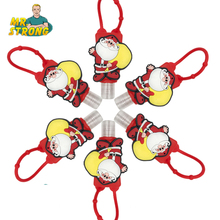 6pcs/lot Santa Claus Antibacterial Portable My Hand Sanitizer Bottle Holders Bath Body Works (Empty Bottle) Christmas Gift(China)