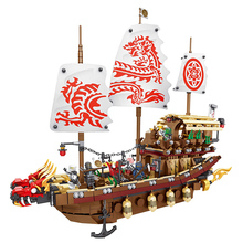06057 1872PCS Big Movie Series Phantom of the Fate Reward No. Puzzle Battle of the Dragon Ship Battle Children's Educational Toy(China)