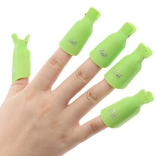2017 Nailpolishremover 10Pcs Plastic Acrylic Nail Art Soak Off Clip Cap UV Gel Polish Remover Wrap Tool Popular(China)