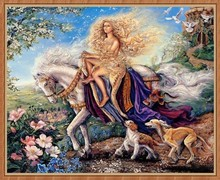 Needlework 3d diamond painting 35x30cm the beauty with white horse wall stickers home deco painting diamond embroidery crafts(China)