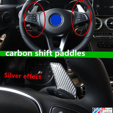 fit for C-Class 2015 C180L C200L C260L car carbon fibre steering wheel shift paddle shifter Extended type high-quality(China)