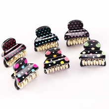 1PC New Lady Small Cute Plastic Hair Claws Dot Acrylic Hair Clips Fashion Girls Barrettes Hair Accessories For Women Hairpins