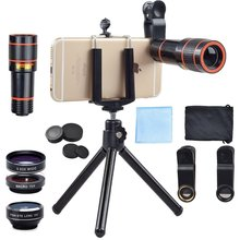 Buy New 6IN1 Phone Camera lenses Kit 12X Telephoto Zoom Lentes Wide Angle Macro Fisheye lens iPhone 7 8 Cell Phone Tripod Clips for $13.15 in AliExpress store