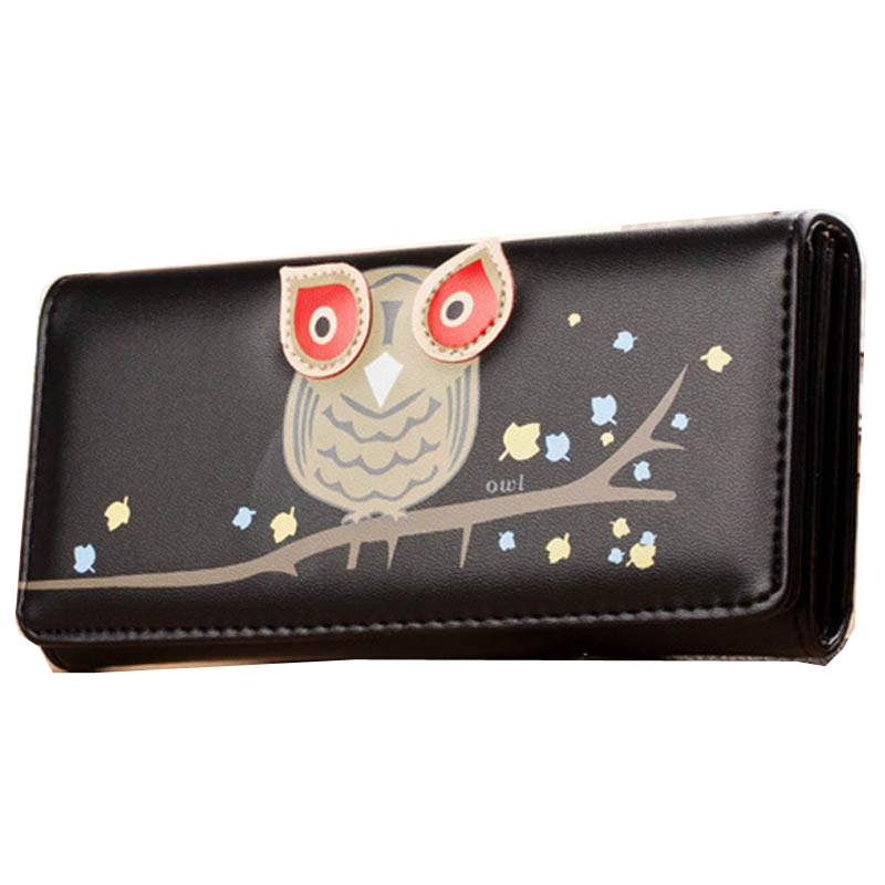 Cute Owl Women Purse With Hasp Femmal Girls Clutch Wallet Ladies Bag With Coin Zipper Pocket -- BIC016 PR49<br><br>Aliexpress